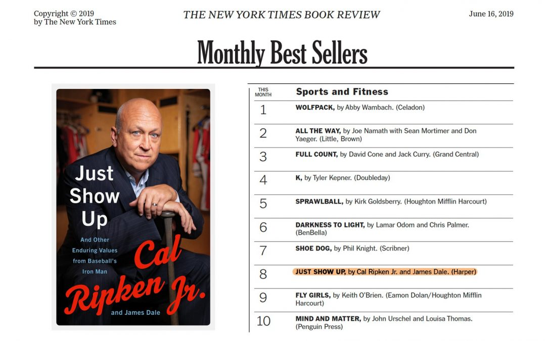 JUST SHOW UP Hits New York Times Best Sellers List